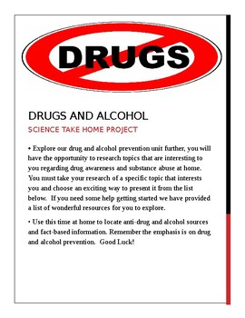 Drugs and Alcohol Project