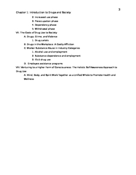 Drugs and Society Chapter 1 Outline