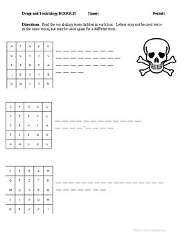 Forensic Drugs and Toxicology BOGGLE!