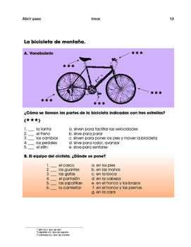 Sports in Spain: Cycling / Soccer - 2 thoughtful units- SP Intermediate 1