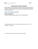 Drugs and the Nervous System Webquest