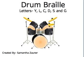 Drum Braille File Folder Game