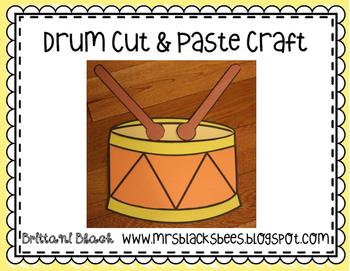 Drum Cut and Paste Craft