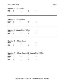 Drum Rhythms Packet