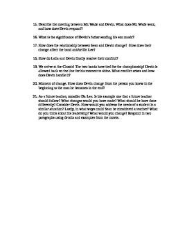 Drumline Movie Questions