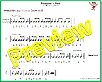 """Drumming/Rhythm Stick Activity: """"Processional-Maria"""" from The Sound of Music"""