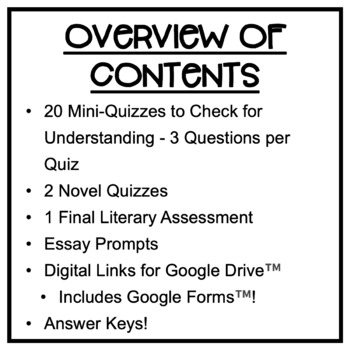Drums, Girls & Dangerous Pie: Quizzes, Literary Test, Essays, Assessment Pack!