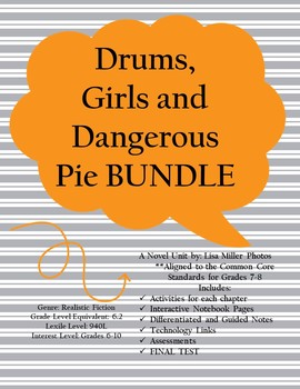 Drums, Girls, and Dangerous Pie Novel BUNDLE