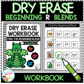 Dry Erase Beginning Blends Workbook: R Blends