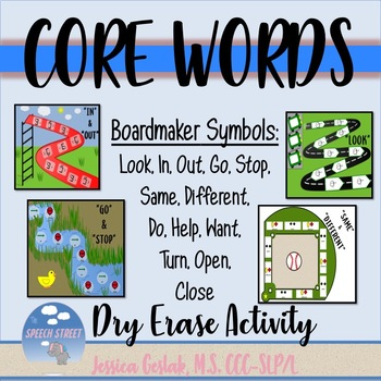 Dry Erase Boards Core Words