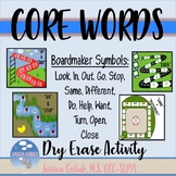 Core Words Dry Erase Boards