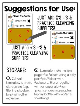 Dry Erase Cleaning Skills Work Tasks