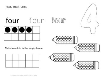 Dry Erase Coloring Pages (Number Words)