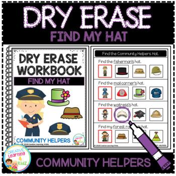 Dry Erase Community Helper Workbook: Find My Hat