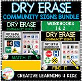 Dry Erase Community Signs Workbook Bundle