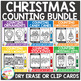 Dry Erase Counting Book/Cards or Clip Cards: Christmas Bundle