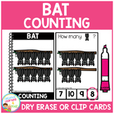 Dry Erase Counting Book/Cards or Clip Cards: Halloween Bats