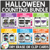 Dry Erase Counting Book/Cards or Clip Cards: Halloween Bundle