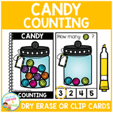 Dry Erase Counting Book/Cards or Clip Cards: Halloween Candy