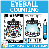 Dry Erase Counting Book/Cards or Clip Cards: Halloween Eyeballs