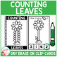 Dry Erase Counting Book/Cards or Clip Cards: Leaves - Spring