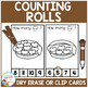 Dry Erase Counting Book/Cards or Clip Cards: Rolls - Thanksgiving Dinner