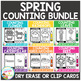 Dry Erase Counting Book/Cards or Clip Cards: Spring Bundle