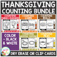 Dry Erase Counting Book/Cards or Clip Cards: Thanksgiving Bundle