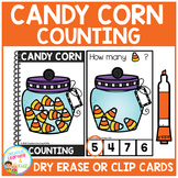 Dry Erase Counting Book/Cards or Clip Cards: Halloween Candy Corn