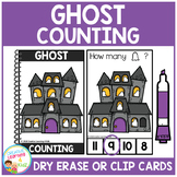 Dry Erase Counting Book/Cards or Clip Cards: Halloween Ghost
