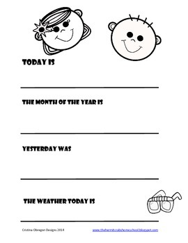 Dry Erase Daily Sheets
