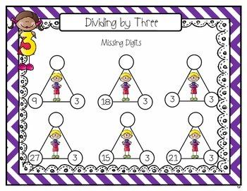 Dry Erase Division Fact Binder Practice
