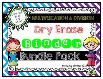 Dry Erase Fact Binder Bundle Pack {Multiplication and Divison}