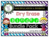 Dry Erase Fact Binder Bundle Pack {Multiplication and Divison}