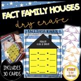 Dry Erase Fact Family Houses
