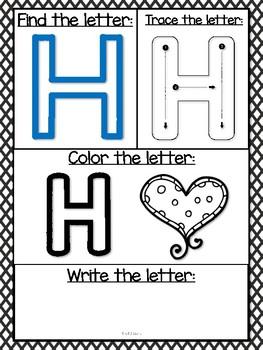 Dry Erase Letter Sheets