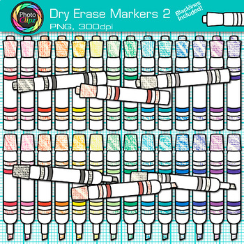 Dry Erase Marker Clip Art {Rainbow Glitter Back to School Supplies} 2