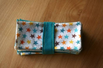 Dry Erase Marker Holder/Eraser (Stars/Turquoise Fabric) Set of 30