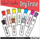 Dry Erase Marker in Rainbow Colors - Clip Art