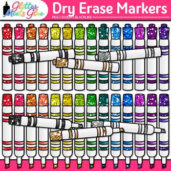 Dry Erase Marker Clip Art | School Clipart for Teachers