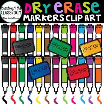 Dry Erase Markers Clip Art {School Clip Art}