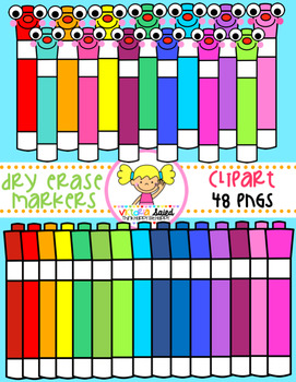Dry Erase Markers Clipart
