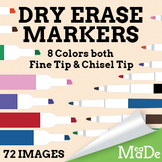 Dry-Erase Markers Clipart Pack