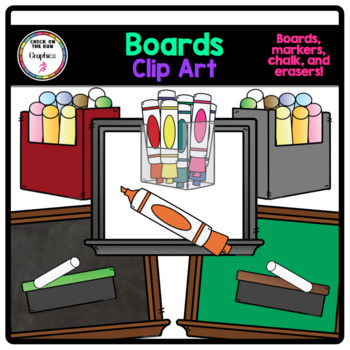 Dry Erase Markers (Digital Clip Art)