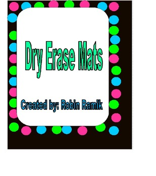 Dry Erase Mats