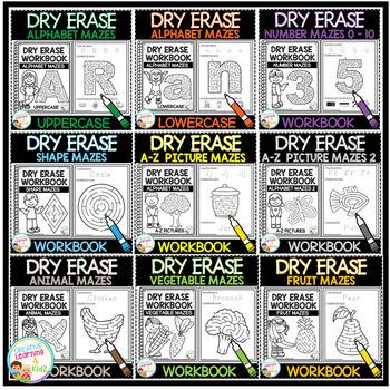 Dry Erase Maze Workbook Bundle 1