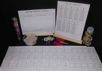 Dry Erase Multiplication Worksheets & Workboard (3rd Grade Math - Common Core)