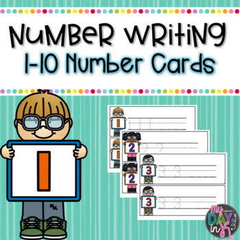 Number Writing Practice 1-10 Teaching Resources | Teachers Pay Teachers