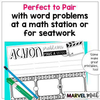 Dry-Erase Pages: Problem Solving w/ Strip Diagrams, Number Lines & Related Facts