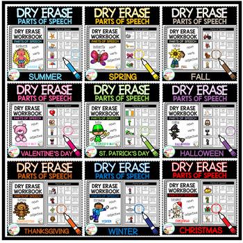 Dry Erase Parts of Speech Workbook Bundle